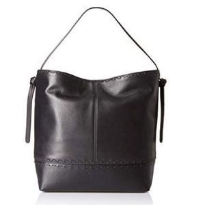 Cole Haan Brynn Leather Hobo in Black